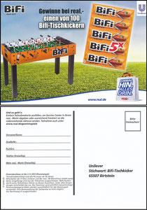 Müller, Thomas, 2013, Bifi 'Kicker-Gewinnspiel'