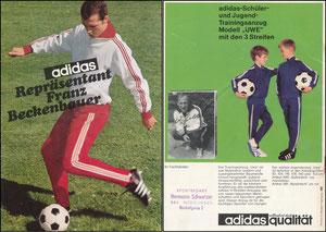 Beckenbauer, 1968, Adidas, Booklet A5