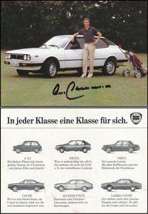 Beckenbauer, 1980, Lancia, weiss, Golfmotiv