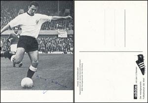 Beckenbauer, 1966, Adidas 'Repräsentant', Motiv 2, Rückseite Werbespruch