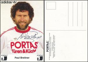Breitner, 1980er, Portas, 'Paul Breitner', schwarzes Logo rechts und links