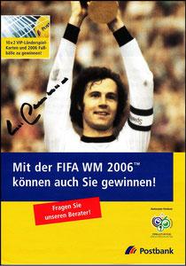 Beckenbauer, 2006, Postbank, Werbeblatt