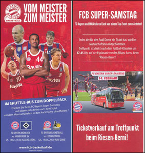 Bayern München, 2014, Bayern München-BBL 'Vom Meister zum Meister'