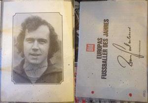 Beckenbauer, 1972, BILD 'Fußballer des Jahres', Dank an SF Norbert