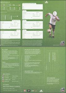 Ballack, 2003, Adidas 'Be a champ 2006', Klappfolder