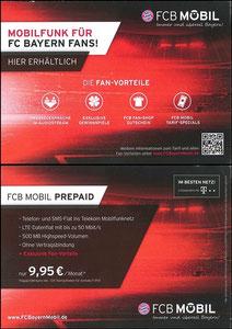 Bayern München, 2016, FCB Mobil, 'Prepaid', Dank SF Robert