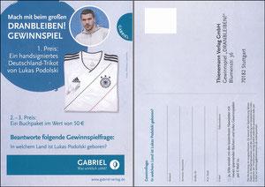 Podolski, 2014, Buchpromotion 'Dranbleiben', Gabiel-Verlag