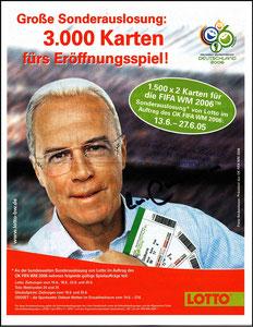 Beckenbauer, 2005, Lotto, Flyer 2