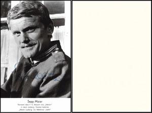 Maier, 1967, Schauspielerkarte 'Wenn Ludwig ins Manöver zieht'