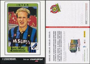 Rummenigge, 1986, Inter Mailand, Panini Italien