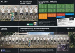DFB, 2010, Sony, Klappfolder