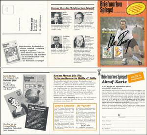 Rummenigge, 1982, 'Briefmarken-Spiegel', Klappkarte