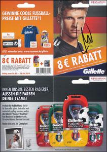 Müller, Thomas, 2014, Gillette, Rossmann, Klappkarte 3