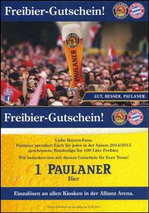 Paulaner, 2014, Paulaner Kiosk-Gutschein