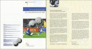 Kahn, 2004,VfS '10 Euro Gedenkmünze, WM 2006', Klappflyer