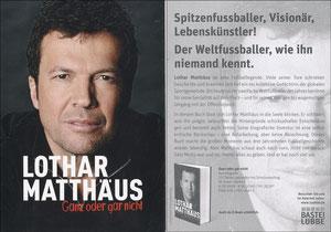 Matthäus, 2012, Buchpromotion 'Ganz oder gar nicht', Version OHNE Lübbe (Buchmesse)