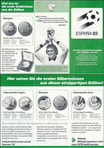 Maier, 1982, Münzprogramm WM 1982, Klappfolder