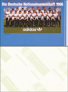 DFB, 1986, Adidas, Aufkleber