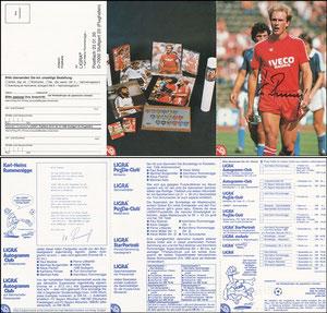 Rummenigge, 1982, Ligra, 3-fach-Klappkarte, mit Struzzi, ohne Bestell-Nr., OHNE Druck-AG
