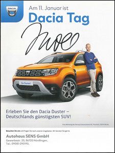 Scholl, 2020, Dacia 'Dacia Tag, Autohaus Sens, A4, Dank an SF Robert