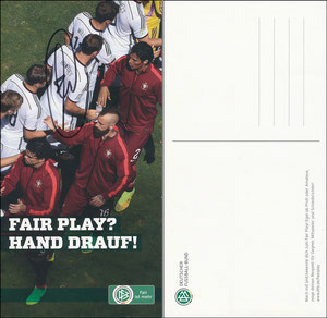 DFB, 2014, Aktion 'Fair Play', sign. Müller im Nov. 2019