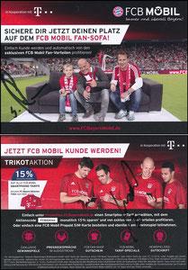 Bayern München, 2016, 12'2016, FCB Mobil 'Lehmann auf Sofa', 15% Rabatt, Version 1, signiert Lehmann und Robben