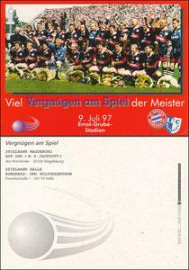 Mannschaftskarte 1997, 'Bayern-Magdeburg', Motiv 1