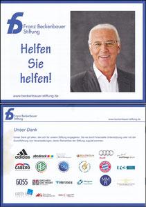 Beckenbauer, 2016, Franz-Beckenbauer-Stiftung, Booklet A5