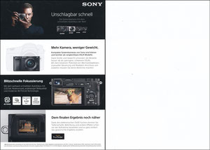 Neuer, 2019, Sony Alpha-Serie