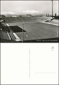 Postkarte, 1960er Jahre, Grünwalder Stadion