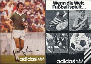 Beckenbauer, 1979, Cosmos NY, Adidas 'Wenn die Welt Fußball spielt'