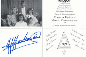 Pfaff, 1989, Gecco Telefon Equipment, Klappkarte