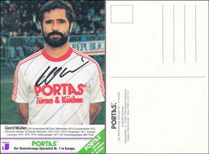 Müller, Portas, 1982, '450 x in 10 Ländern' - Front 'Spezialist Nr. 1 in Europa' - Rück 'Spezialist Nr. 1 in Europa' - Bildstand kleiner