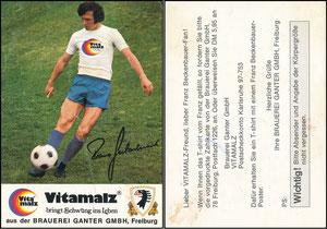 Beckenbauer, 1974, Vitamalz 'Brauer Ganter GmbH, Freiburg'