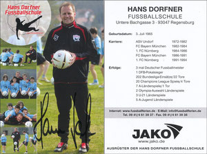 Dorfner, 2000er, 'Hans-Dorfner Fußballschule', Motiv 1