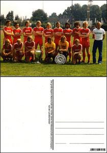 Fan Shop, Postkarte, '1974, Meisterschaft und Europapokalsieg', Dank an SF Sven