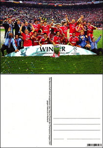 Fan Shop, Postkarte, '2001, Champions-League-Sieger 2001', Dank an SF Sven