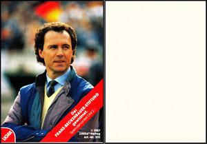 Beckenbauer, 1987, Ligra, Franz-Beckenbauer-Stiftung, Aufkleber, Dank an SF Norbert
