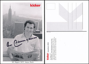 Kicker Sammelkarte 24, Beckenbauer