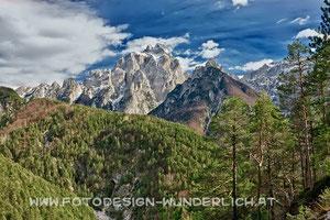 Dogna - Tal, Val - Dogna, Blick zum Montasch (Fotodesign-Wunderlich)