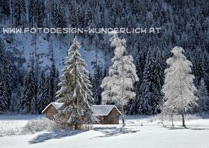 Kärnten, Hütte im Winter (Fotodesign-Wunderlich)