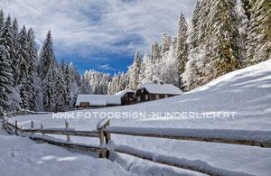 Kärnten, Bauernhof im Winter (Fotodesign-Wunderlich)