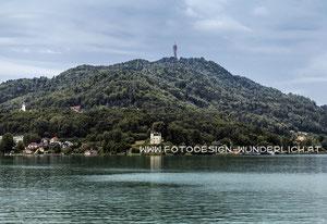 Kärnten, Wörthersee, Schloss Reifnitz und Pyramidenkogel (Fotodesign-Wunderlich)