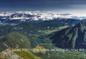 Laghi di Fusine, Fusine - Seen, Weißenfelser Seen, Blick vom Mangart (Fotodesign-Wunderlich)