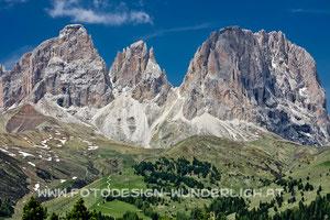 Langkofel, Langkofelgruppe, Sassolungo, Dolomiten (Fotodesign-Wunderlich)