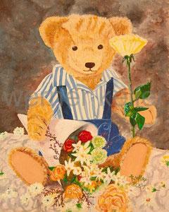 Teddy IV  - Original: Öl auf Hartfaser, 30x40 cm