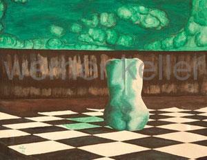versunken - Original: Öl auf Leinwand, 90x70 cm