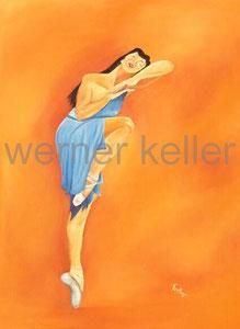 Ballerina III - Öl auf Leinwand, 60x80 cm, 850 €   • Druck: Druck auf Leinwand 120 €
