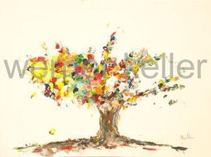 Lebensbaum - Original: Öl auf Leinwand, 50x60 cm, unverkäuflich • Druck auf Leinwand : 100 €
