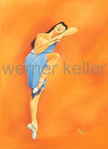 Ballerina III - Öl auf Leinwand, 60x80 cm